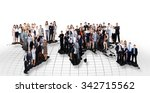 business people team with world ... | Shutterstock . vector #342715562