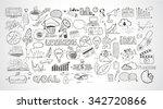 business doodles sketch set  ... | Shutterstock . vector #342720866