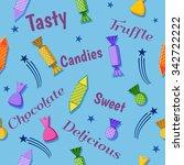 sweet candies celebration design | Shutterstock .eps vector #342722222