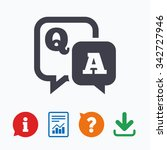 question answer sign icon. q a... | Shutterstock .eps vector #342727946