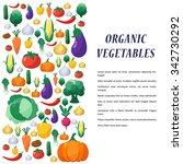 vegetables background in flat... | Shutterstock . vector #342730292