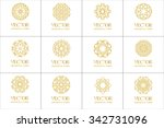set pattern geometric gold logo....