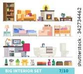 big detailed interior set.... | Shutterstock .eps vector #342734462