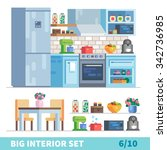 big detailed interior set. ... | Shutterstock .eps vector #342736985