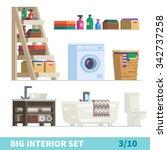 big detailed interior set.... | Shutterstock .eps vector #342737258