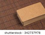 business cards blank mockup  ... | Shutterstock . vector #342737978