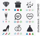 wedding  engagement icons....   Shutterstock .eps vector #342738485