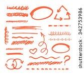 vector red highlighter elements ... | Shutterstock .eps vector #342753986