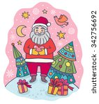 christmas greeting card with... | Shutterstock .eps vector #342756692