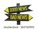 good news   bad news signpost