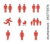 family icon. flat design style... | Shutterstock .eps vector #342773576