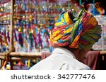 man wearing a turban in a...