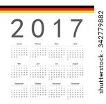 square german 2017 year vector...   Shutterstock .eps vector #342779882