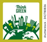 think green concept with eco... | Shutterstock .eps vector #342780836