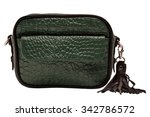 lady's bag  hand bag of green... | Shutterstock . vector #342786572
