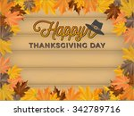 happy thanksgiving day... | Shutterstock .eps vector #342789716