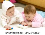 twin girls | Shutterstock . vector #34279369
