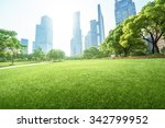 park in lujiazui financial... | Shutterstock . vector #342799952