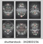 set of christmas cards  ... | Shutterstock .eps vector #342803156