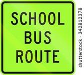 new zealand road sign   school...   Shutterstock . vector #342812378