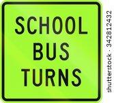 new zealand road sign   school... | Shutterstock . vector #342812432