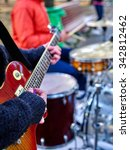 music street performers on... | Shutterstock . vector #342812462