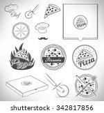 pizza | Shutterstock .eps vector #342817856
