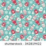 seamless winter holidays... | Shutterstock .eps vector #342819422