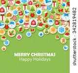 christmas festive card with...   Shutterstock .eps vector #342819482