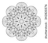 vector henna tatoo mandala.... | Shutterstock .eps vector #342820376