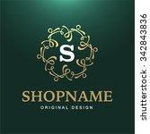 vector gold luxury calligraphic ... | Shutterstock .eps vector #342843836