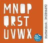 paper font | Shutterstock .eps vector #342846692