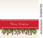 christmas card with greetings | Shutterstock .eps vector #342846782