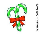 candy cane isolated...   Shutterstock .eps vector #342854438