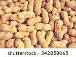 roasted in shell peanuts.... | Shutterstock . vector #342858065