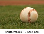 baseball on the grass | Shutterstock . vector #34286128