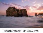 malibu sunset | Shutterstock . vector #342867695