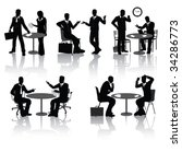 high quality business people... | Shutterstock .eps vector #34286773