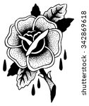 roses tattoo sketch doodle...   Shutterstock .eps vector #342869618