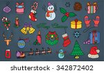 christmas and new year pattern | Shutterstock .eps vector #342872402