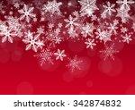 decorative vector holiday... | Shutterstock .eps vector #342874832