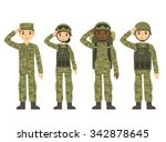 us army soldiers  men and woman ...