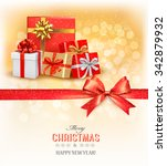 merry christmas card with a... | Shutterstock .eps vector #342879932