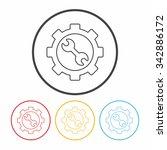 setting line icon   Shutterstock .eps vector #342886172
