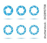 segmented circle signs  3d... | Shutterstock . vector #342890708