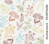 vector seamless pattern with... | Shutterstock .eps vector #342894686