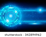 abstract technology blue... | Shutterstock .eps vector #342894962