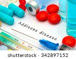 addisons disease   diagnosis... | Shutterstock . vector #342897152