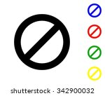 prohibitory sign icon   colored