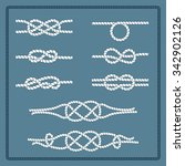 rope knots collection.... | Shutterstock .eps vector #342902126